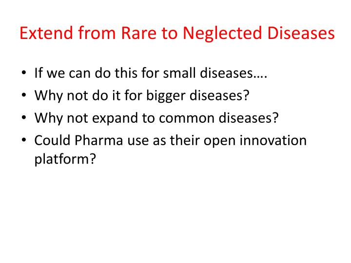Extend from Rare to Neglected Diseases