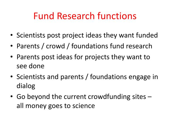 Fund Research functions