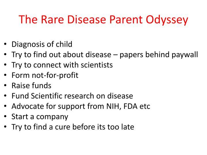 The Rare Disease Parent Odyssey