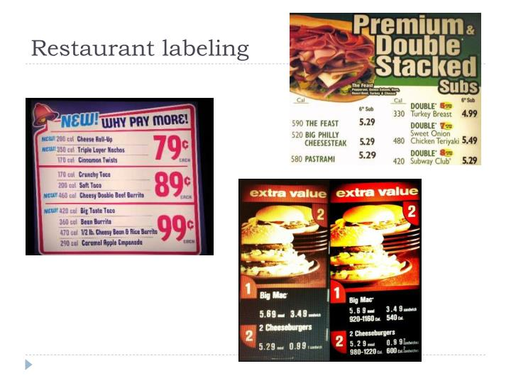 Restaurant labeling