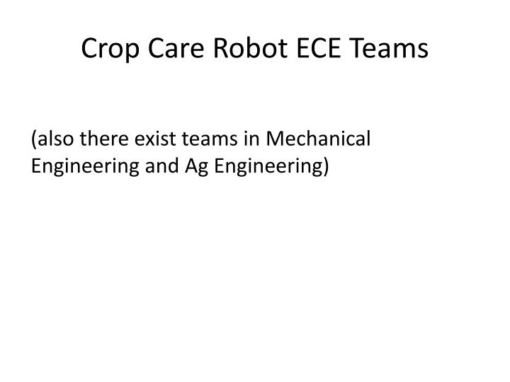 crop care robot ece teams