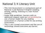national 3 4 literacy unit
