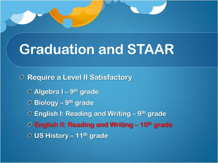 Graduation and STAAR