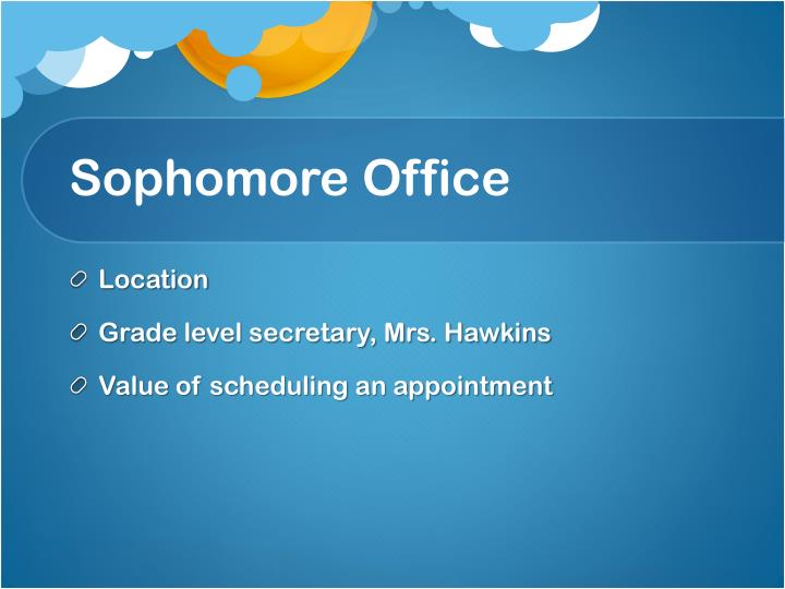 Sophomore office