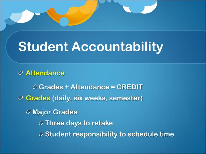 Student Accountability