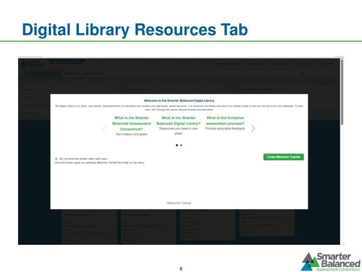 Digital Library Resources Tab