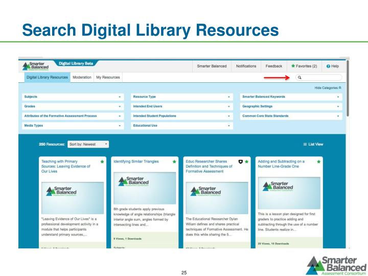 Search Digital Library Resources
