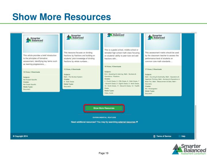 Show More Resources