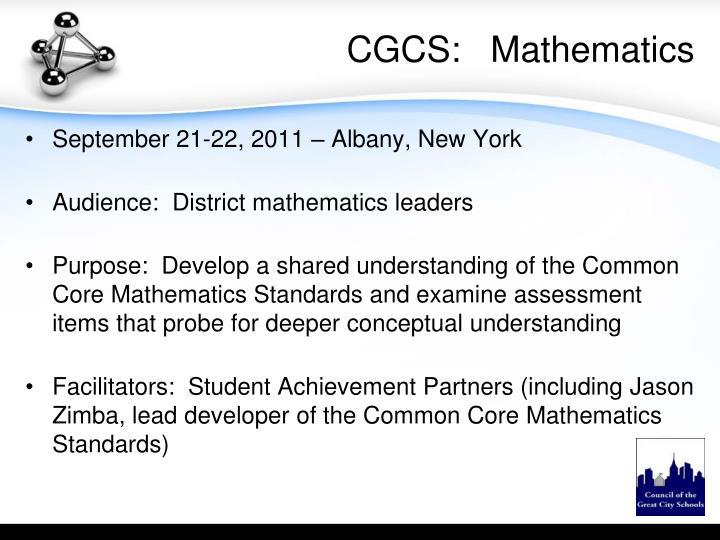 CGCS:   Mathematics