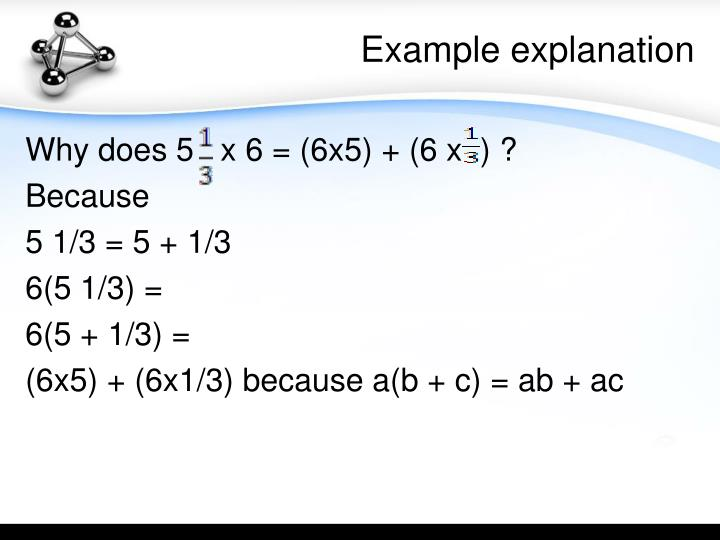 Example explanation