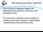 reviewing secondary materials1
