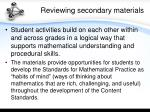 reviewing secondary materials2