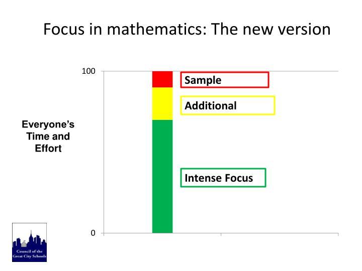 Focus in mathematics: The new version