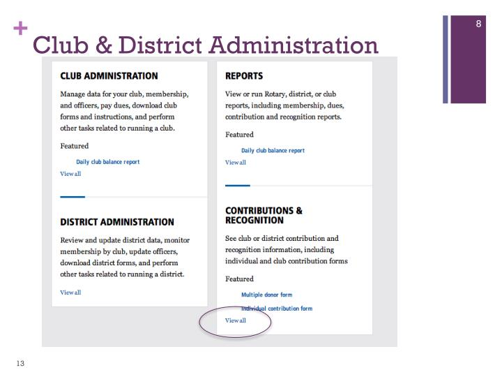Club & District Administration