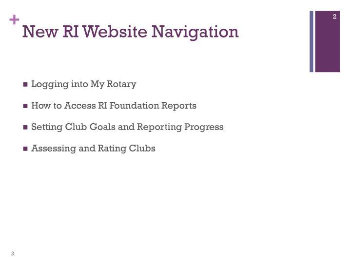 New RI Website Navigation