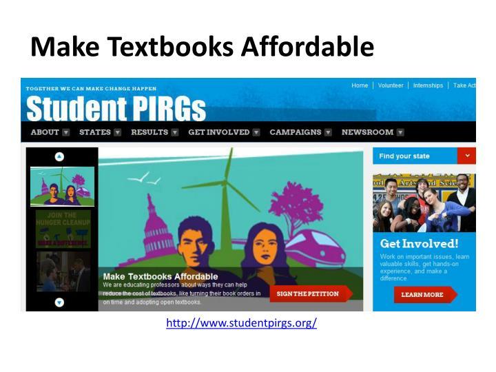 Make Textbooks Affordable
