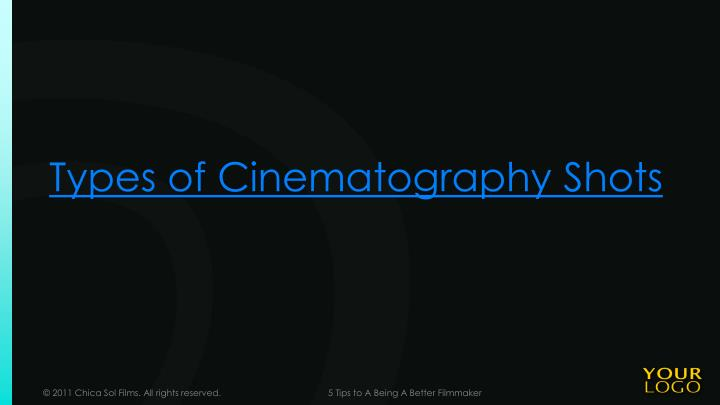Types of Cinematography Shots