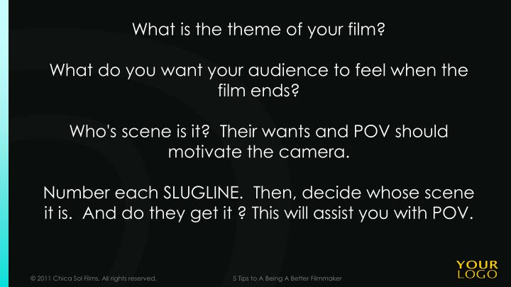 What is the theme of your film?