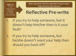 reflective pre write