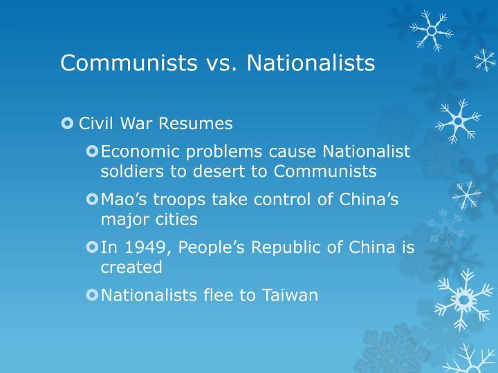 Communists vs. Nationalists