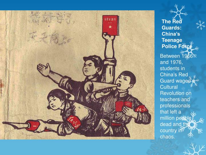 The Red Guards: China's Teenage Police Force