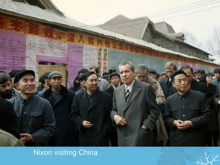 Nixon visiting China
