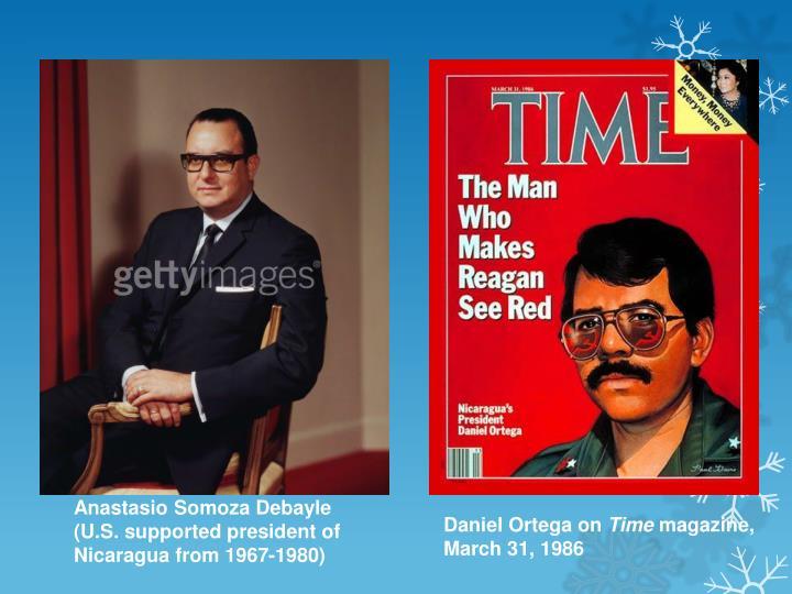 Anastasio Somoza Debayle (U.S. supported president of Nicaragua from 1967-1980)