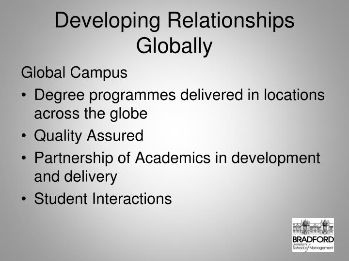 Developing Relationships Globally