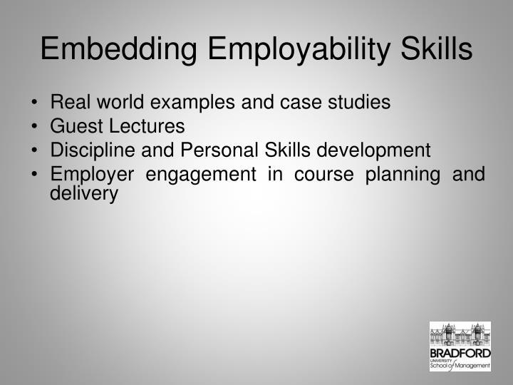 Embedding Employability Skills