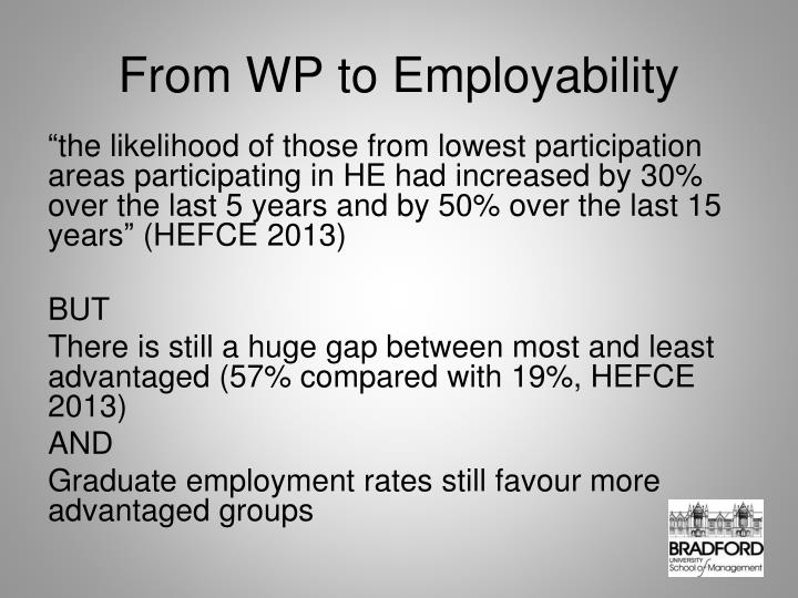 From WP to Employability
