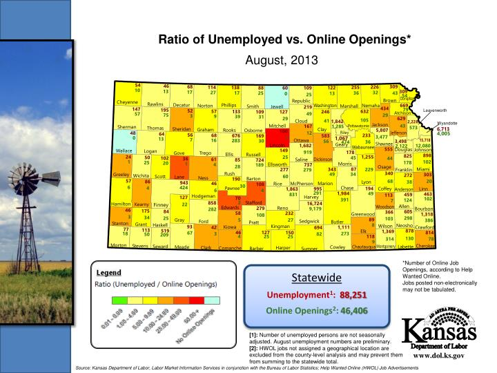 Ratio of Unemployed vs. Online Openings*