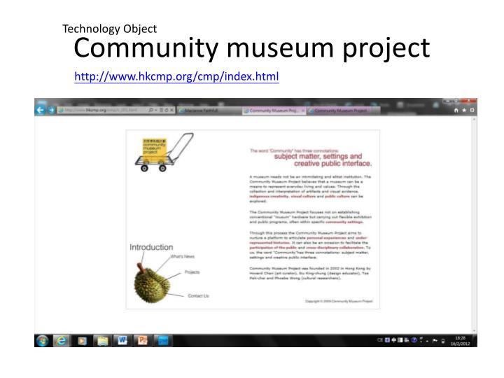 Community museum project