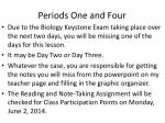 periods one and four