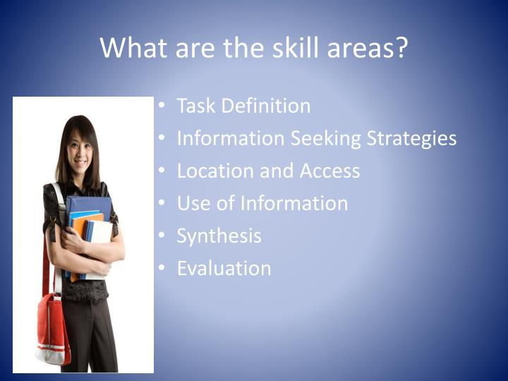What are the skill areas?