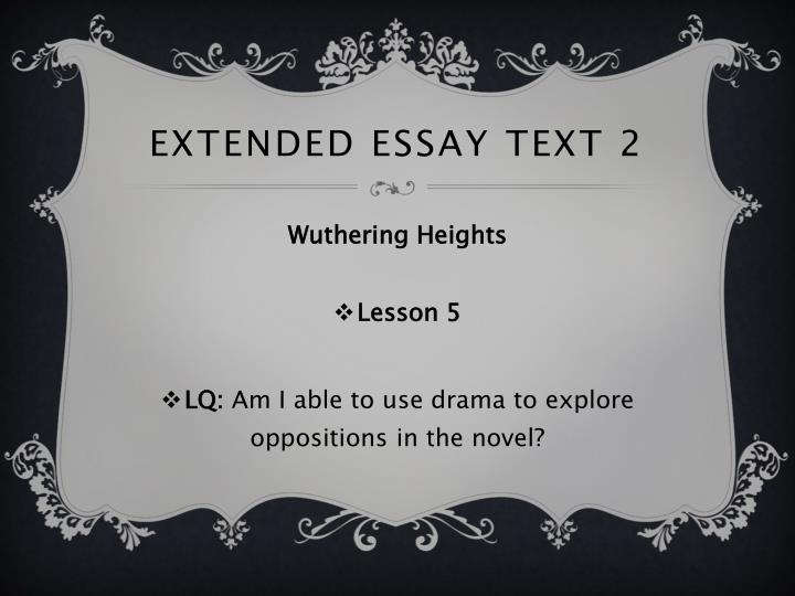Extended essay text 2