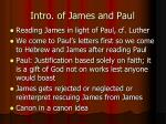 intro of james and paul