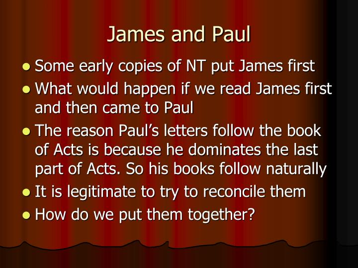 James and Paul