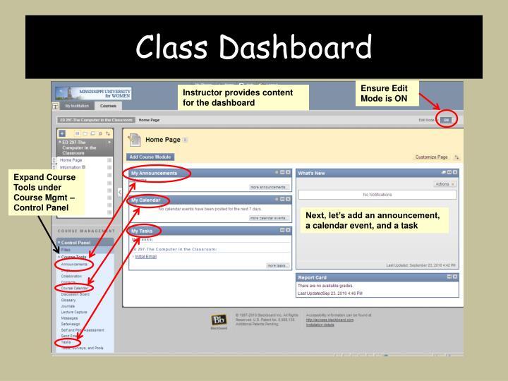 Class Dashboard
