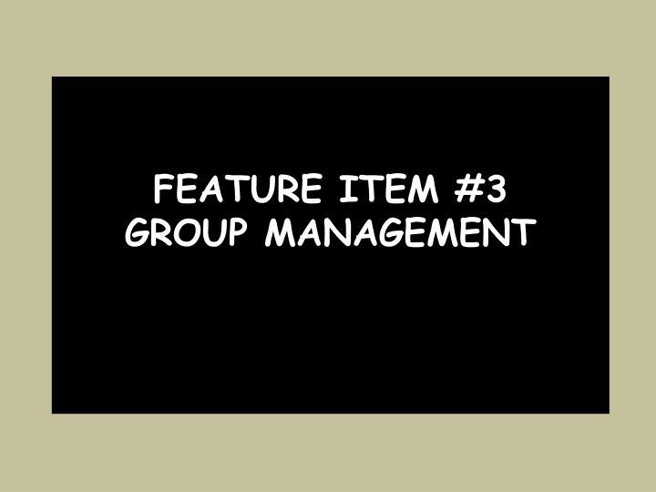 Feature item #3
