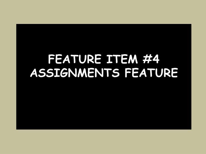 Feature item #4