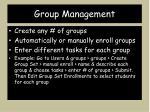 group management