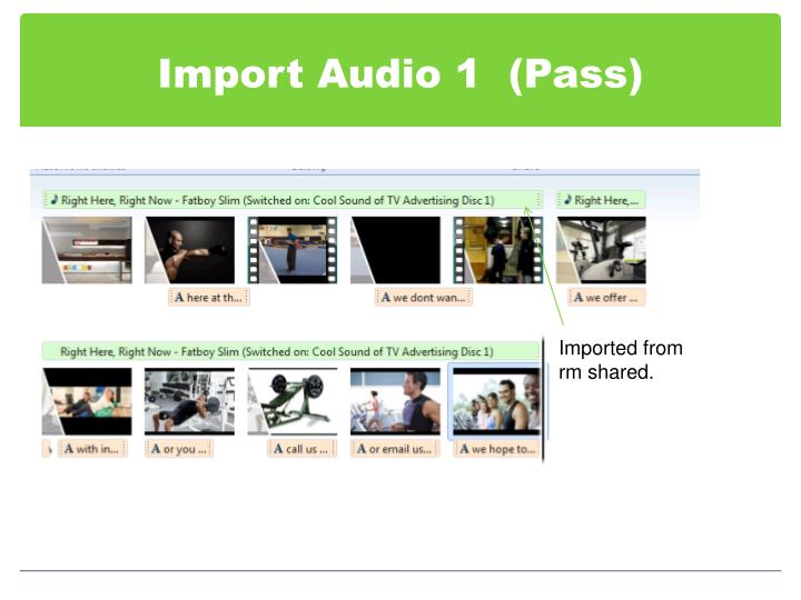 Import Audio 1  (Pass)
