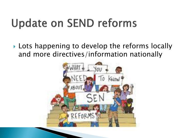 Update on SEND reforms