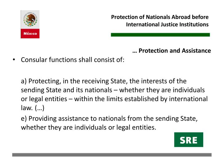 Protection of Nationals Abroad before