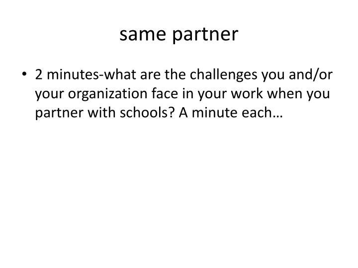 same partner
