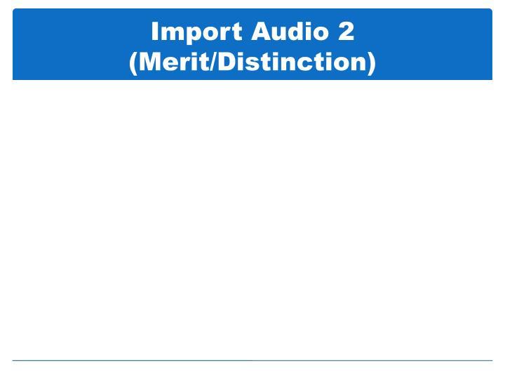 Import Audio 2  (Merit/Distinction)