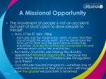 a missional opportunity1