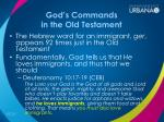 god s commands in the old testament