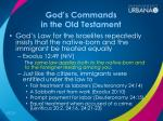 god s commands in the old testament1