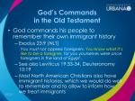 god s commands in the old testament2